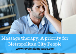 Massage therapy A priority for Metropolitan City People